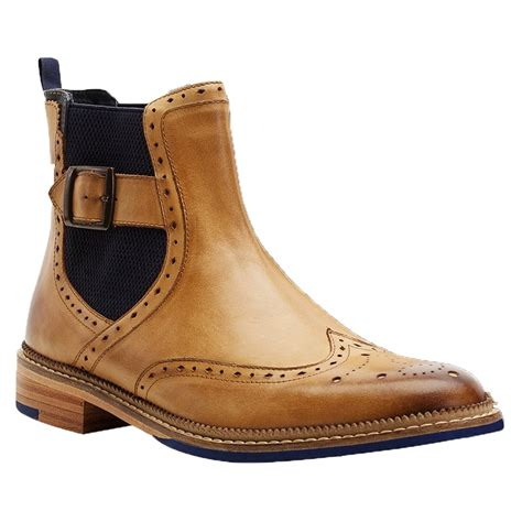 mens brogue chelsea boots goodwin smith mens oswald chelsea brogue boot at