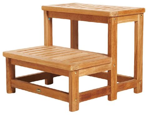 teak bath step stool arb teak tub step contemporary ladders and step stools