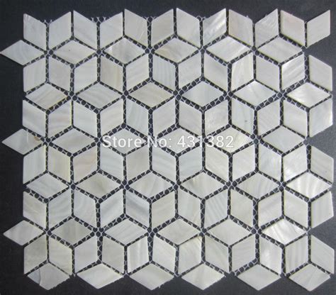 Mosaic Bathroom Tiles Ideas rhombus shell mosaic tiles 42 24 naural pure white mother of pearl tiles kitchen backsplash