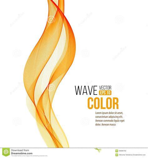 wallpaper garis orange bright orange modern abstract wave vector illustration