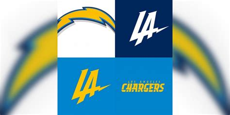 chargers logo la chargers adjust logo for third time in response to