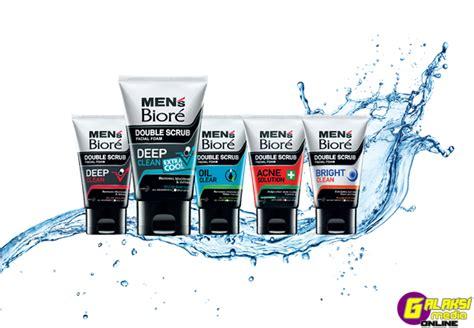 Pembersih Muka Mens Biore men s biore scrub with water splash galaksi media