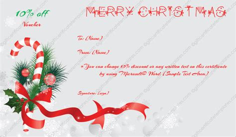 christmas gift certificate template 6 gift template