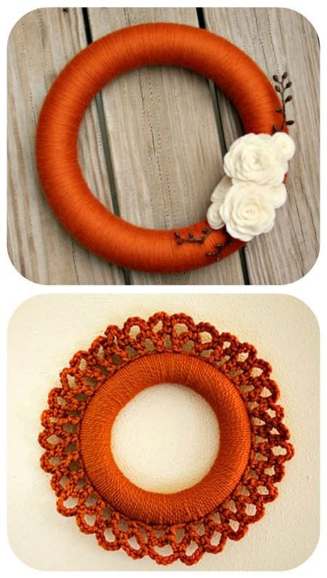 beautiful yarn craft tutorials yarn wreaths pom poms decor tip junkie