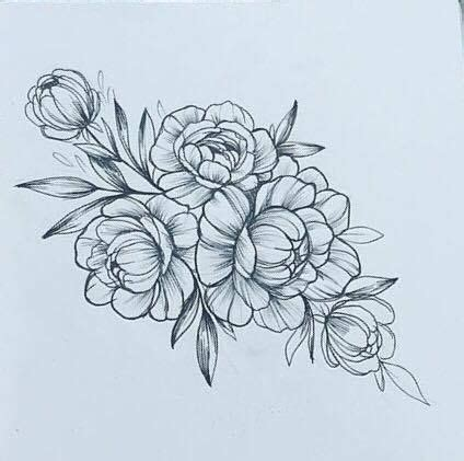peony rose tattoo designs on sternum ideas tattoos peonies