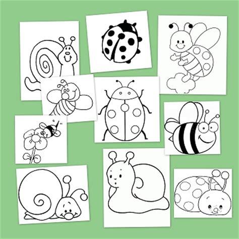 imagenes infantiles sobre otoño dibujos para colorear insectos en primavera