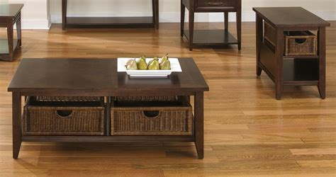 Basket Coffee Table And End Table Set Contemporary Coffee Contemporary Coffee And End Tables