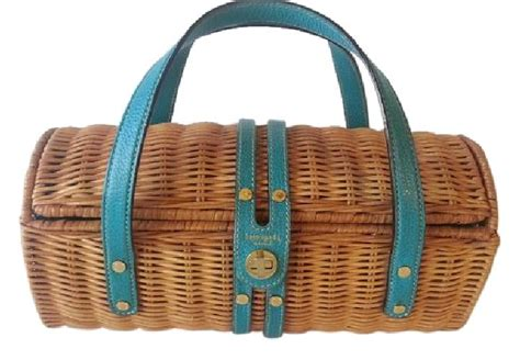 Kate Spades Wicker Clutches And Satchels by Kate Spade Handbag Wicker And Turquoise Satchel Satchels