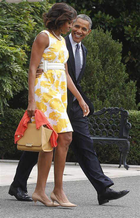 michelle obama yellow michelle obama dress yellow and white michelle obama shows