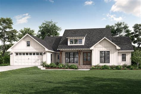 american farmhouse plan  attractive shed dormer