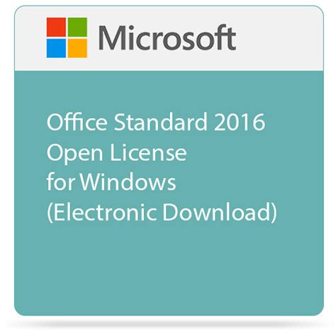 Microsoft Office Standard microsoft office standard 2016 open license 021 10554 b h photo