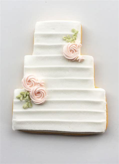 Wedding Cake Cookies by Banded Wedding Cake Cookie Favors Bakeshop