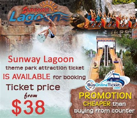 theme park tickets cheap sunway lagoon ticket promotion busonlineticket com