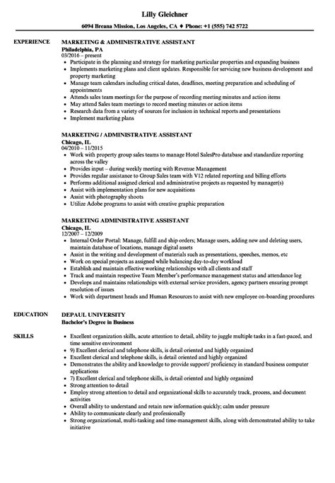 Marketing Assistant Resume by Marketing Assistant Resume Sanitizeuv Sle