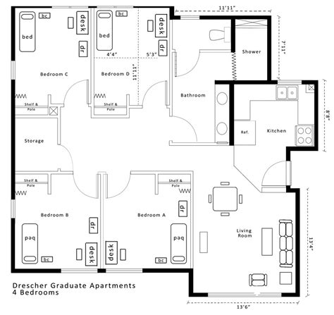 Kitchen Layout Guide drescher apartments housing and residence life