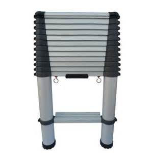 ladders at home depot telescopic access 12 5 ft aluminum telescopic ladder with