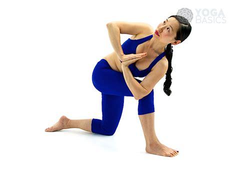Floor Yoga Poses by Half Prayer Twist Pose Yoga Basics