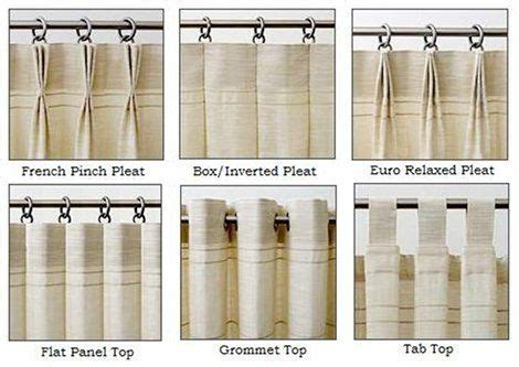 drapery pleats types drapery heading styles for custom panels style drapery