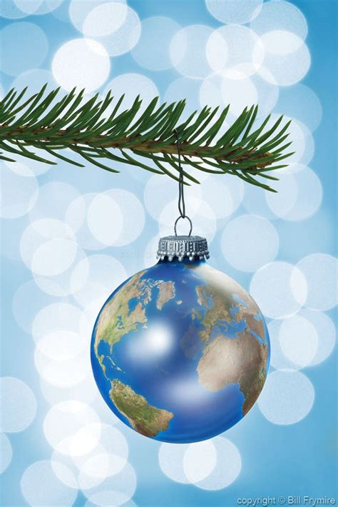 globe christmas ornament