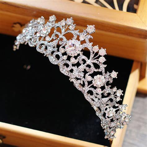 Vintage Wedding Hair Tiara by מוצר White Vintage Rhinestone Bridal Tiara Wedding Hair
