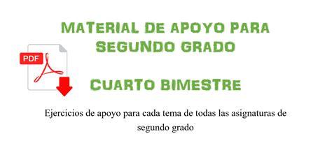 material didctico de apoyo del cuarto grado para el material de apoyo para sexto grado cuarto bimestre