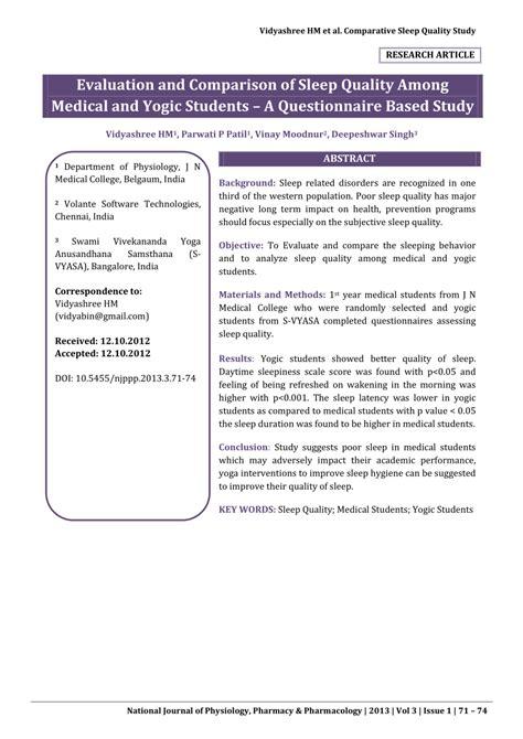 sleep quality pdf pdf evaluation and comparison of sleep quality among