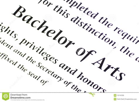 how to write bachelor of arts degree on resume bachelor of arts designation royalty free stock photo