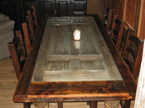 handmade reclaimed barnwood dining room table by
