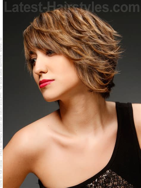 short layered bob sides feathered back inverted bob hairstyles with feathered back sides