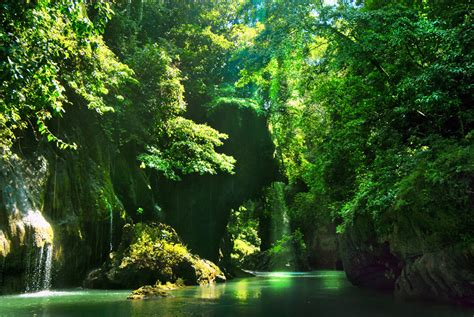 green wallpaper jakarta green canyon pangandaran indonesia tourism