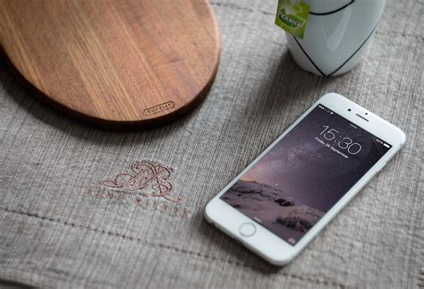 Iphone Table Layout | download white iphone 6 on table mockup free psd at