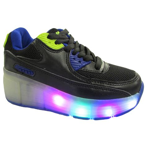wheels light up shoes boys led light up roller wheel skates trainers