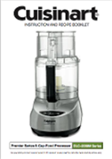 Cuisinart Dlc 2009chb Food Processor Manual Download