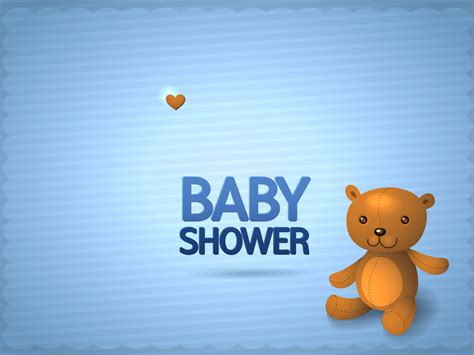 picture for baby shower baby boy shower invitation ppt backgrounds animals blue