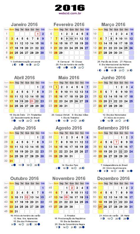 E Calendario 2016 Calend 225 2016 Em Png Pronto Para Voc 234 Utilizar Webcid
