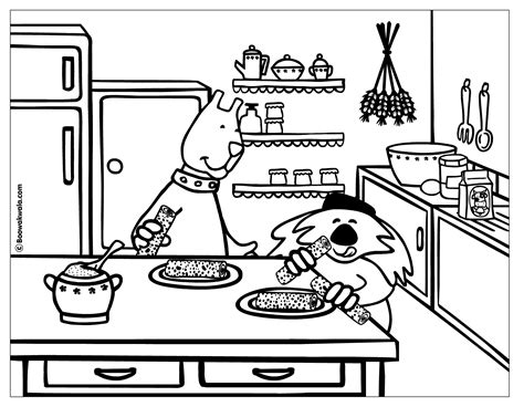 coloring page of kitchen cooking coloring page coloring home