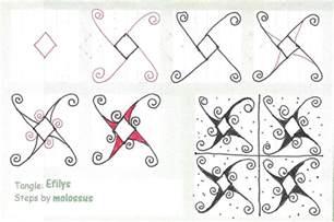 doodle tutorial my tangle pattern efilys
