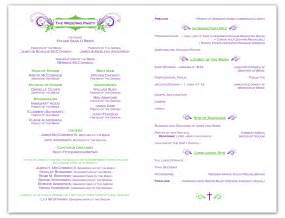 Ceremony Program Template by Free Wedding Ceremony Program Template Krista Graphic