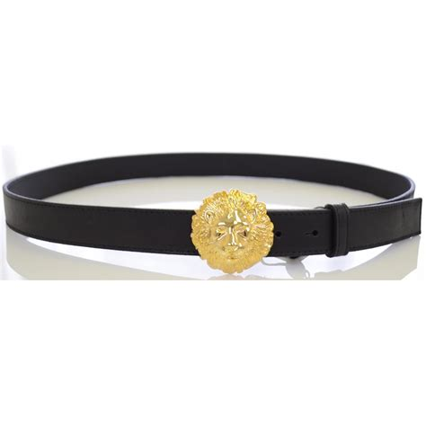 versace collection gold buckle leather belt versace from
