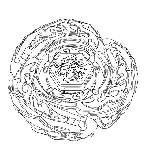 L Drago Coloring Pages by Drago Beyblade Coloring Pages For Printable Free