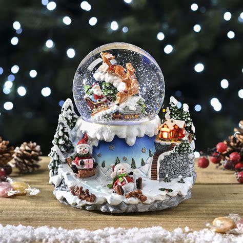 winter scene snow globes led snow globe