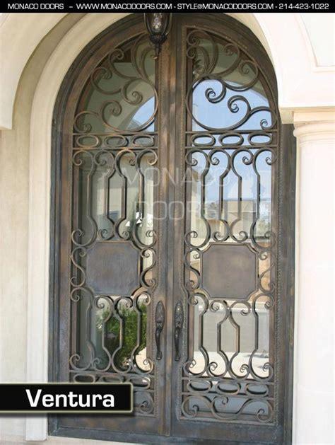 Iron Glass Front Doors Wrought Iron Entry Doors Monaco Doors