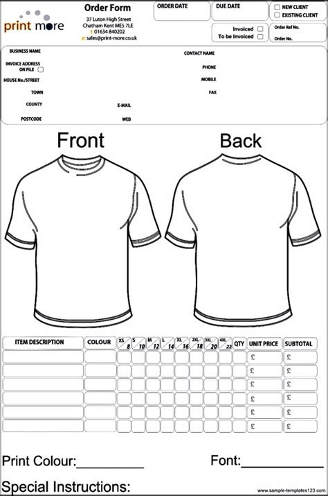 blank clothing templates excel shirt invoice template studio design gallery