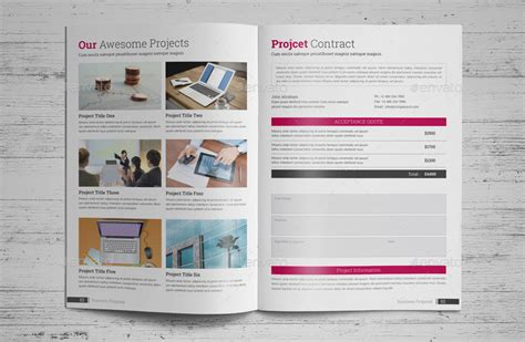 business proposal indesign template by janysultana