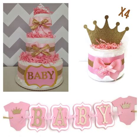 Baby Shower Princess Decorations by Princess Baby Shower Box Pink And Gold Baby Shower