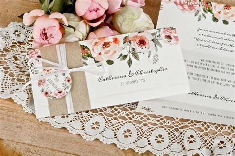 Einladungskarten Hochzeit Mit Anh Nger by Vintage Einladung Mit Kraftpapier Banderole Und S 252 223 Em