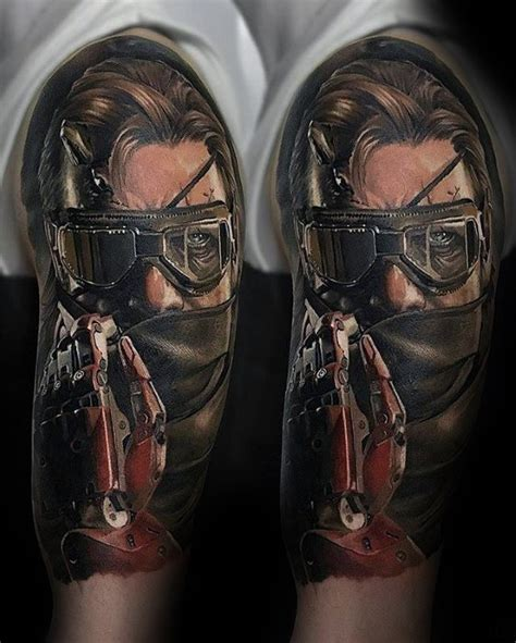 50 metal gear tattoo designs for men gaming ink ideas