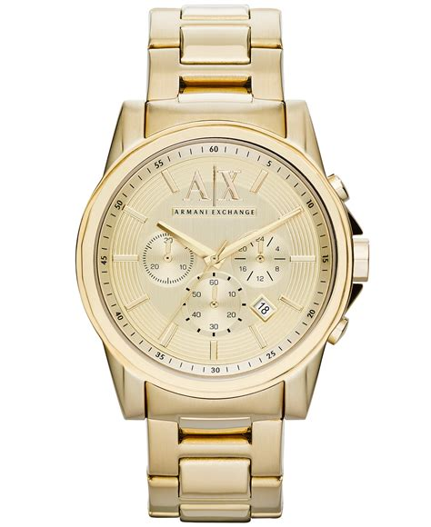 new armani exchange ax2099 gold ion plated chronograph