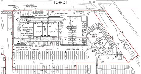 parking lot floor plan commercial site plan commercial real estate site