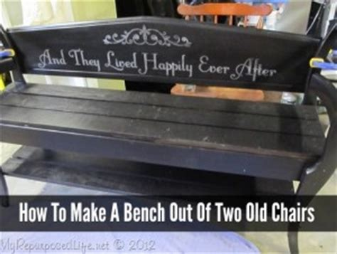 how to make a bench out of old chairs diy headboard bench homestead survival